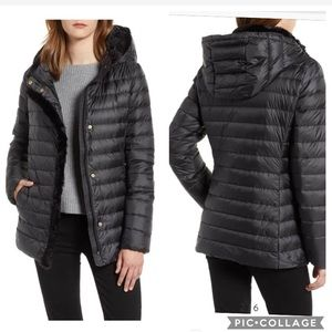 Cole Haan Colby Faux Fur Trim Puffer Jacket